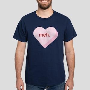 Meh Heart Dark T-Shirt