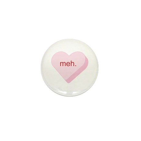 Meh Heart Mini Button (10 pack)