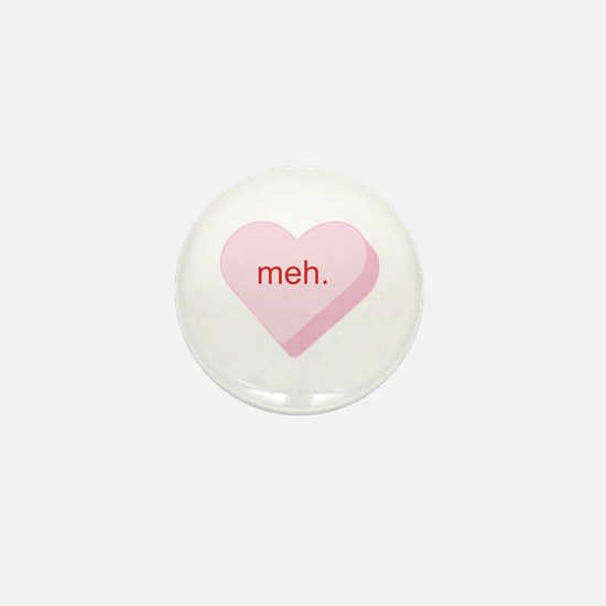 Meh Heart Mini Button