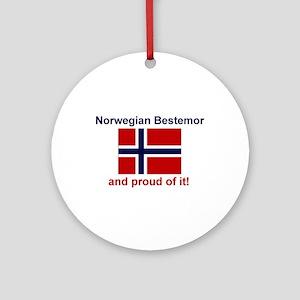 Proud Norwegian Bestemor Ornament