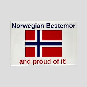 Proud Norwegian Bestemor Mylar Magnet
