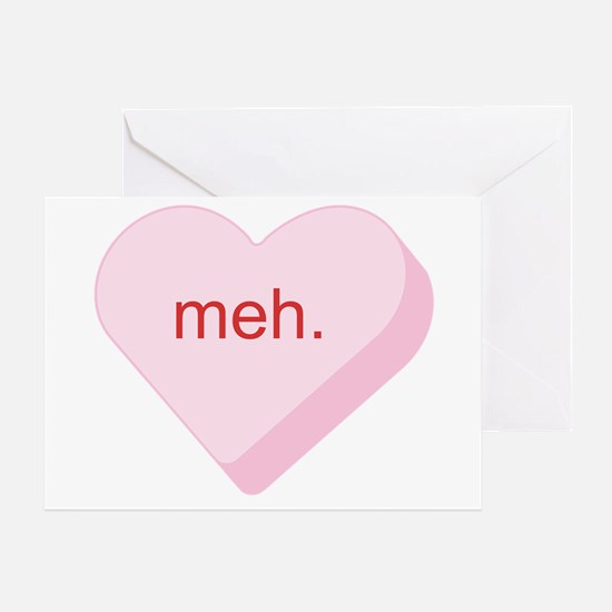 Meh Heart Greeting Card
