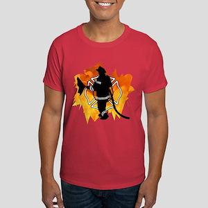 Firefighter Flames Dark T-Shirt