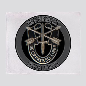 Special Forces Green Berets Throw Blanket