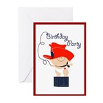 Cowboy Invitations (Pk of 10)