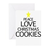 Christmas cookies peace love christmas cookies Greeting Cards (20 Pack)