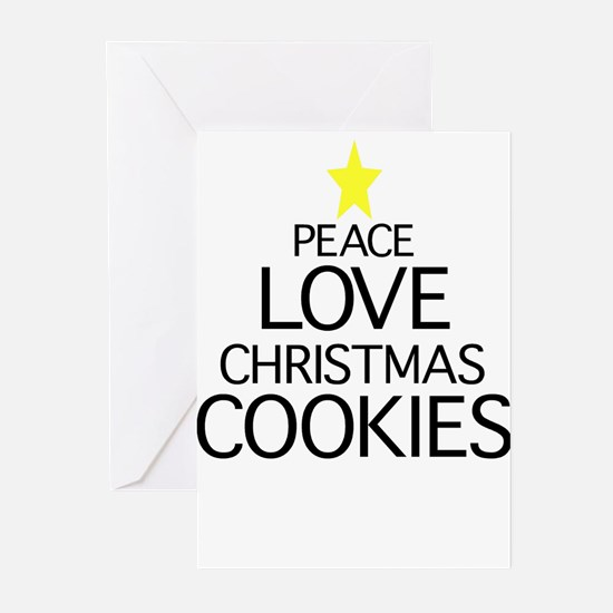 Peace, Love, Christmas Cookie Greeting Cards