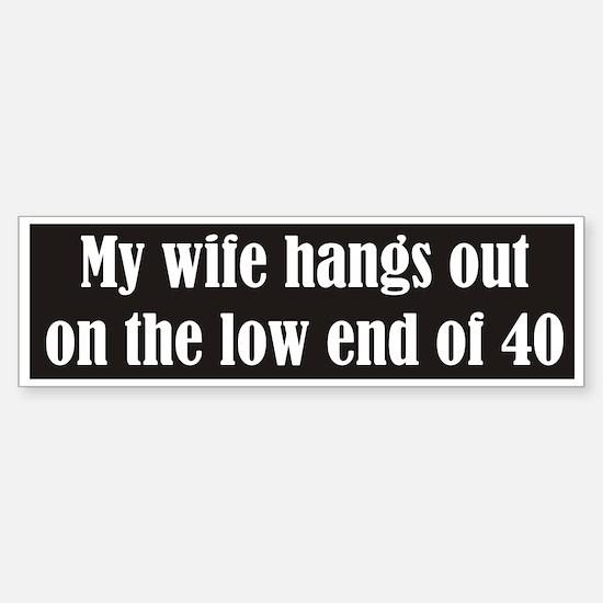 My wife hangs out on 40 meter CW Bumper Bumper Bumper Sticker