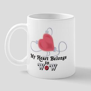 My Heart Belongs to WoW Mug