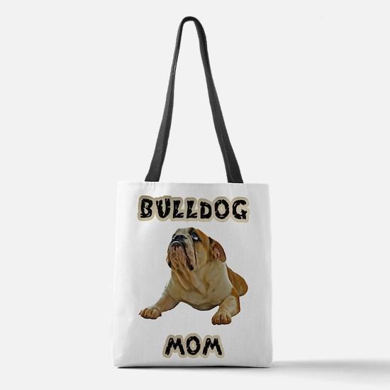 Bulldog Mom Polyester Tote Bag