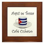 Cafe Cubano Framed Tile