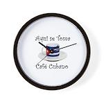 Cafe Cubano Wall Clock