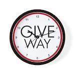 Give Way Wall Clock