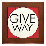 Give Way Framed Tile