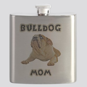 Bulldog Mom Flask