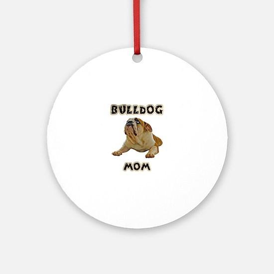 Bulldog Mom Round Ornament