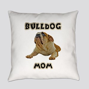 Bulldog Mom Everyday Pillow