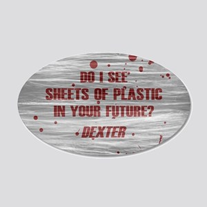 DEXTER PLASTIC SHEETS 20x12 Oval Wall Decal