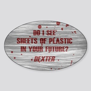 DEXTER PLASTIC SHEETS Sticker (Oval)