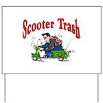 Scooter Trash Yard Sign