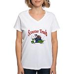 Scooter Trash Women's V-Neck T-Shirt