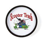 Scooter Trash Wall Clock
