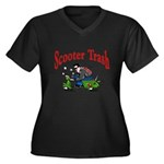 Scooter Trash Women's Plus Size V-Neck Dark T-Shir