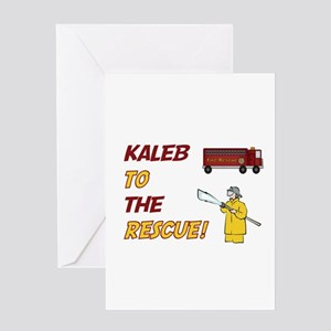 Kaleb to the Rescue! Greeting Card