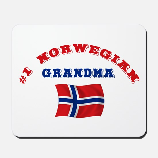 #1 Norwegian Grandma Mousepad