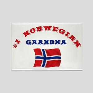 #1 Norwegian Grandma Mylar Magnet
