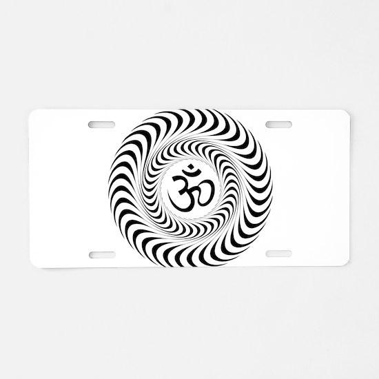 Om Sacred Sound Spiritual M Aluminum License Plate