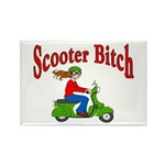 Scooter Bitch Rectangle Magnet