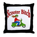 Scooter Bitch Throw Pillow