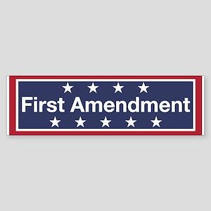 First Amendment (bumper) Bumper Sticker