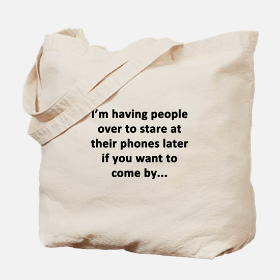 Having People Over Tote Bag