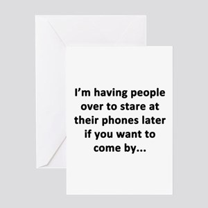 Having People Over Greeting Card