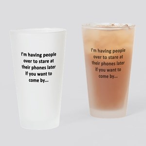Having People Over Drinking Glass