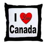 I Love Canada Throw Pillow