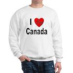 I Love Canada (Front) Sweatshirt