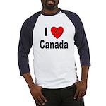 I Love Canada (Front) Baseball Jersey