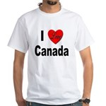 I Love Canada (Front) White T-Shirt