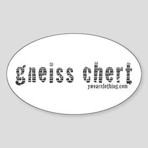 Gneiss Chert Oval Sticker