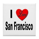 I Love San Francisco Tile Coaster