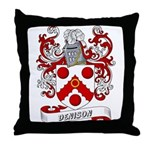 Denison Coat of Arms Throw Pillow