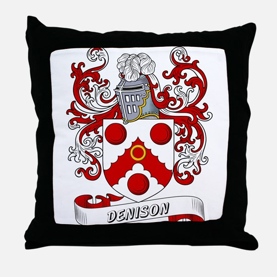 Denison Coat of Arms Throw Pillow