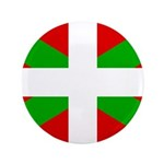 "Basque Flag 3.5"" Button (100 pack)"