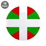 "Basque Flag 3.5"" Button (10 pack)"