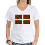 Basque Flag Women's V-Neck T-Shirt