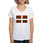 Basque Flag Women's V-Neck T-Shirt