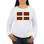 Basque Flag Women's Long Sleeve T-Shirt